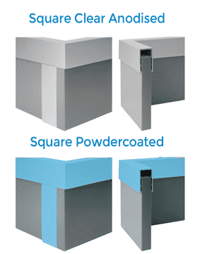 TPI Square Aluminium Options