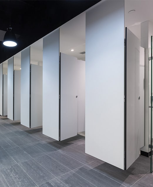 TPI Commercial Joinery Toilet Partitions And Wet Area Cubicles - Industrial bathroom partitions