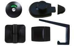Metlam Black Satin Door Furniture