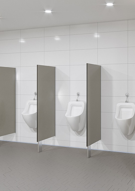 Urinal Screens and Privacy Partitions - blade mounted