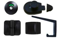 Metlam Black Satin Door Furniture